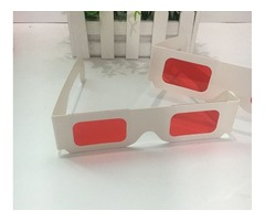 Gafas 3D Decodificador Lente Rojo